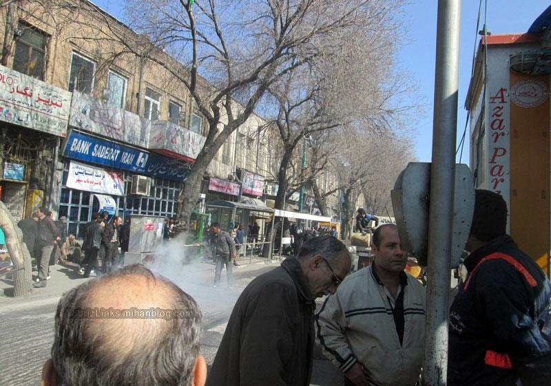 آسفالت نامناسب تبریز