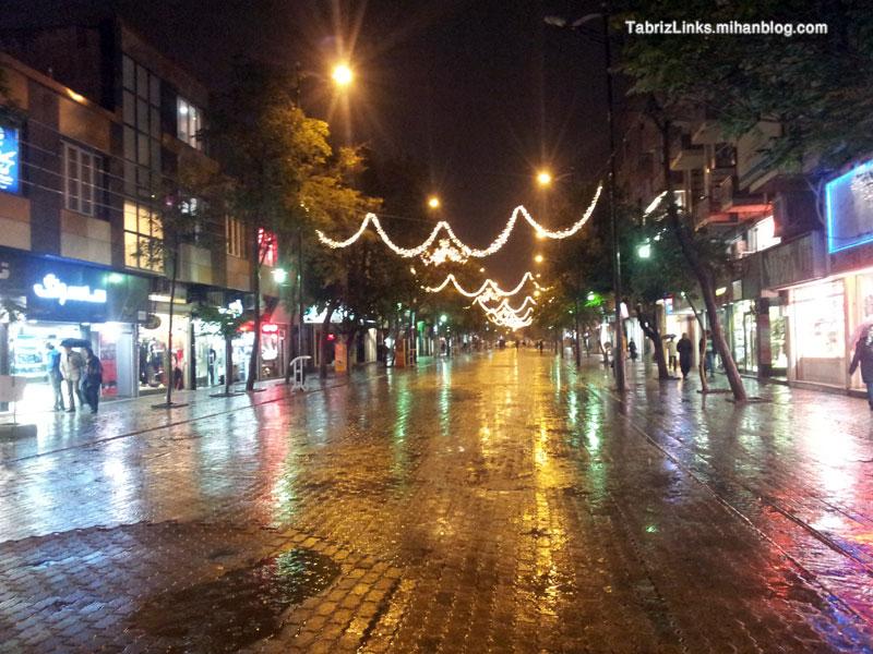 باران پاییزی تبریز