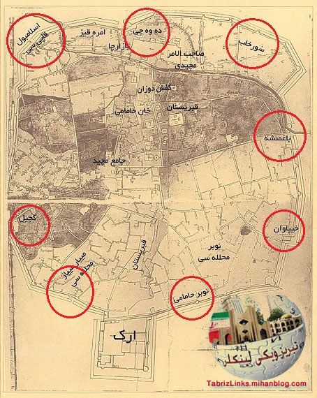 دربهای تاریخی تبریز