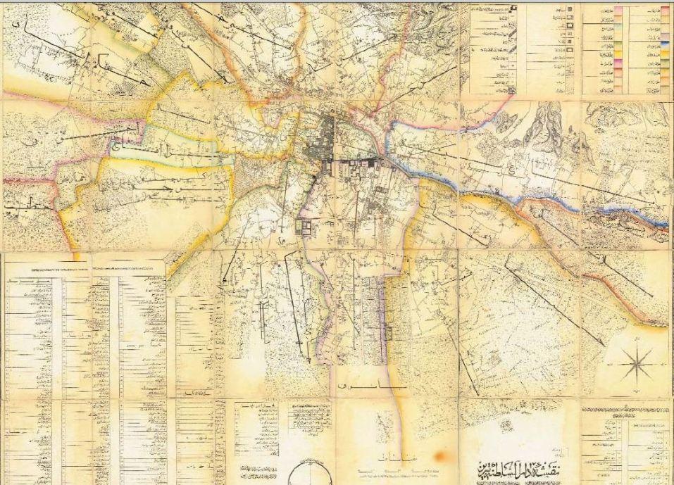 نقشه قدیمی تبریز