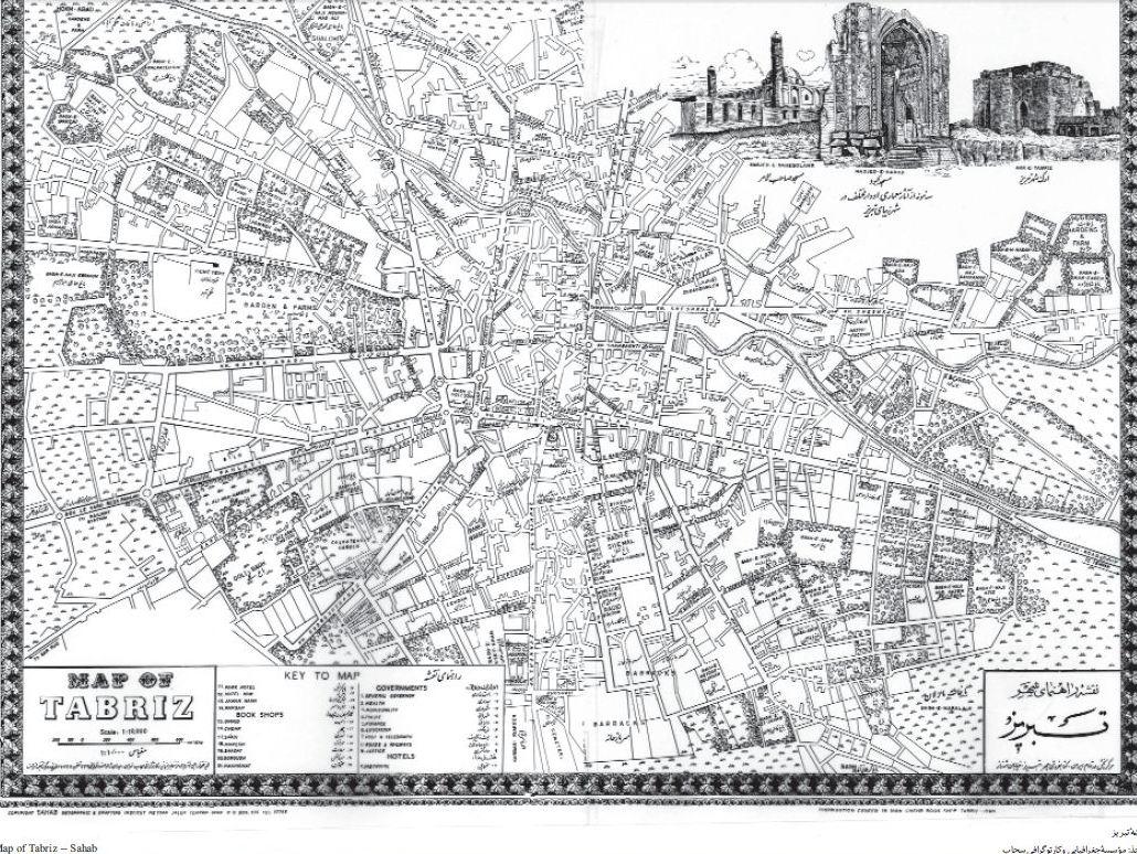 نقشه قدیمی شهر تبریز