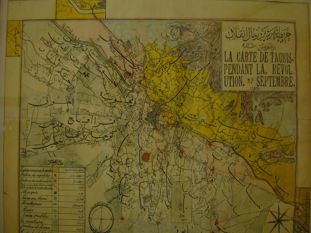 نقشه تبریز قدیمی